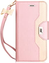 Sponsored Ad - FYY Leather Case with Mirror for iPhone 6S Plus/iPhone 6 Plus, Leather Wallet Flip Folio Case with Mirror a...