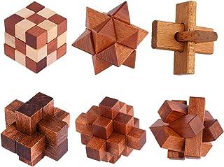 BOROK Rompecabezas Madera, 6Pack 3D Puzzles Adultos Juegos de Ingenio Juegos de Mesa Juego Iq Juguete Educativos Habilidad Juego Logica Calendario de Adviento Niños
