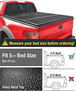MaxMate Alloy Tri-Fold Hard Top Truck Bed Tonneau Cover for 2015-2019 Chevy Colorado/GMC Canyon   Fleetside 5'2