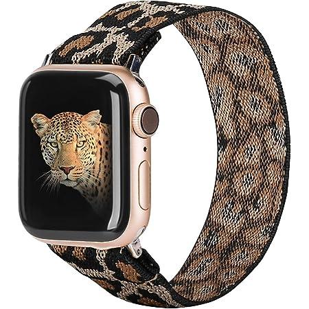 TOYOUTHS Correa elástica compatible con Apple Watch Band Scrunchie 38/40 m, correa de nailon elástico suave, pulsera de repuesto para iWatch Series 5/4/3/2/1