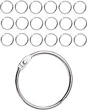 IPEA Douchegordijnringen met metalen haken - 20 stuks - Made in Italy - openingsring 50 mm voor gordijnen, badkamer, huish...