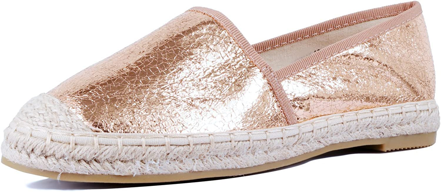 Womens Loafers and Slip ons Woven Espadrille Flats Fashion Casual shoes