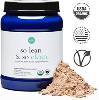 Ora Organic Vegan Protein Powder - 22g of Plant-Based Protein with Enzymes for Digestion & 20+ Superfoods - Dairy-Free, Gluten-Free, Soy-Free, Paleo, Keto-Friendly - Chocolate Flavor, 20 Servings