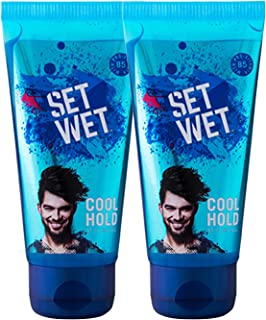 Set Wet Cool Hold Hair Styling Gel For Men, 100ml (Pack of 2)