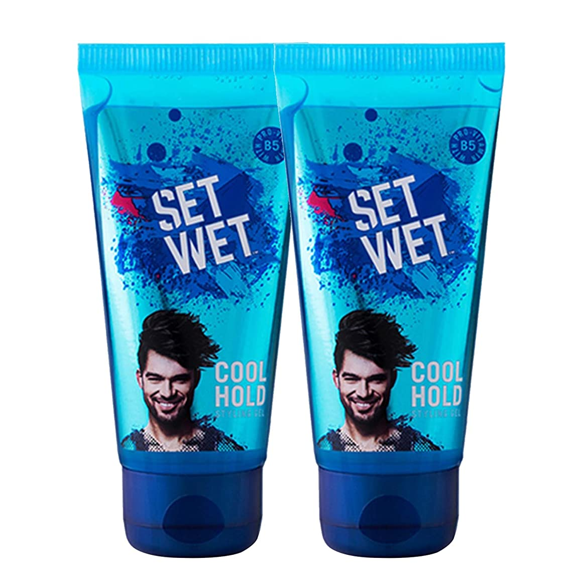 陽気な拡張週間Set Wet Cool Hold Hair Styling Gel For Men, 100ml (Pack of 2)