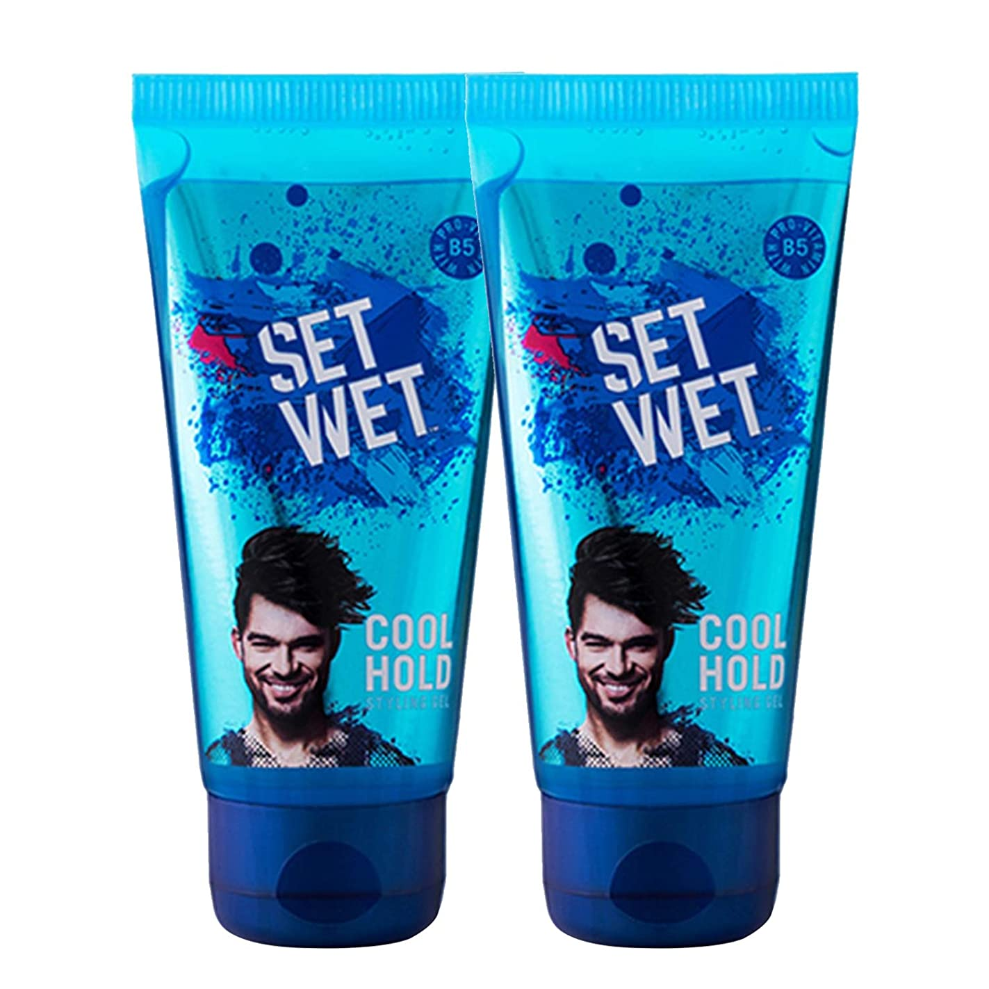 側溝スキャンダラス転送Set Wet Cool Hold Hair Styling Gel For Men, 100ml (Pack of 2)