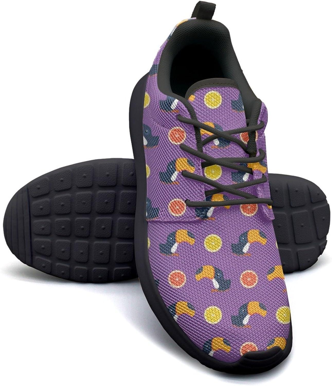 Eoyles gy Toukan and Citrus Lemon Slice Women's Slip Resistant Lightweight Running Sneakers shoes