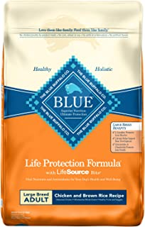 Blue Buffalo Life Protection Formula Large Breed Dog Food � Natural Dry Dog Food for Adult Dogs � Chicken and Brown Rice � 30 lb. Bag