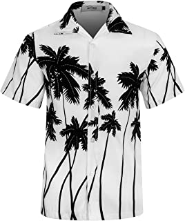 APTRO Men's Hawaiian Shirt Short Sleeve Relax Fit Floral Beach Shirt