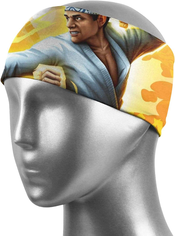 Uzila Cobra Kai Sports Headbands for Women and Men Boho Headbands Head Wraps Sweatbands Hairbands Workout Thin Fitness Gym Yoga Running