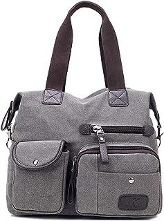 EVEOUT Damen Canvas Handtasche Multi Tasche Große Umhängetasche Hobo Taschen für Reise Arbeit Schule Camping Versand 855