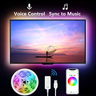 Led Strip Lights for TV, 9.2Ft TV Led Backlight Music Sync for 32-60 inch. Works with Alexa Google Home, Gosund App Remote Control, 16 Million Colors, Brighter 5050 LED, USB Powered, Only 2.4Ghz