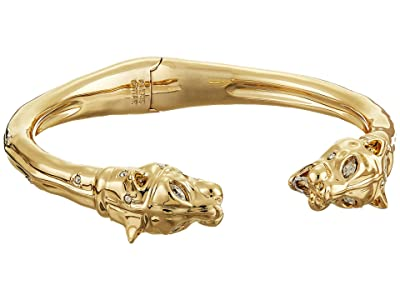 Alexis Bittar Face to Face Panther Hinge Bracelet (10K Gold with Rhodium) Bracelet