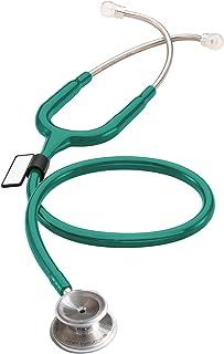 MDF MDワン ステンレススチールプレミアムデュアルヘッド聴診器 - グリーン (MDF77709)- フリーパーツライフ&ライフタイム保証
