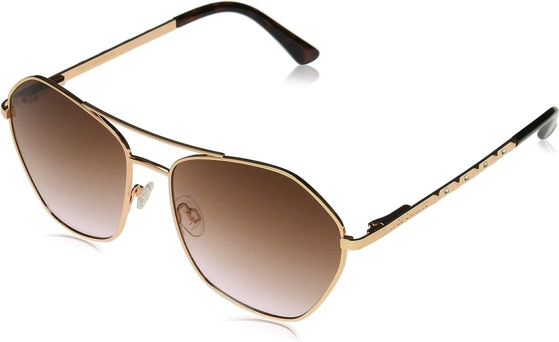 Vince Camuto Women's Vc824 Rgd Non-Polarized Iridium Square Sunglasses Rose Gold 60 mm