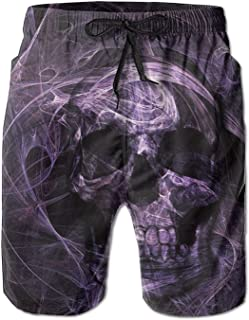 Lixinli Men's Horror Skull Boardshorts Beach Shorts