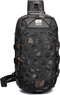 FANDARE Herren Brusttasche Diebstahlsicherung Sling Rucksack Casual Daypacks mit USB für Schultertasche Umhängetasche für ...