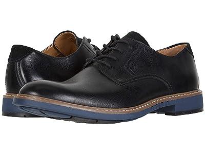 Clarks Un Elott Lace (Black Leather) Men