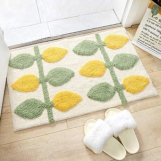 SYH003 お家で 洗える 洗濯機 丸洗い ウォッシャブル 滑り止め 加工 北欧 スタイル 玄関マット 「 フィノ 」レモンツリー Lemon Tree 45x65