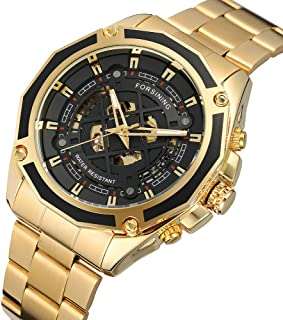 A1030 Top Brand Automatic Mechanical Business Men Watch Skeleton Luxury Watch Luxury Fashion Military Stainless Steel Watc...