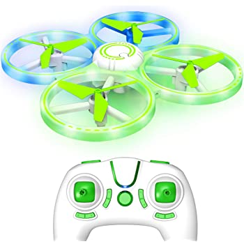 UFO1 Hands Free LED Mini Drone for Kids - Small Drones for Beginners, Hand Operated Flying Toy with 3 Speeds, 360 Flips, Altitude Hold and 2 Drone Batteries