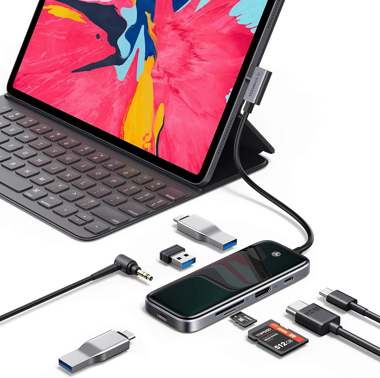 Vanmass 8-in-1 Full-Scene Aluminum-Glass Slim USB C Hub $15.50 Coupon