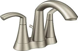 Moen 6172BN Glyde Two-Handle High Arc Centerset Bathroom Faucet, Brushed Nickel