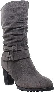 Best mid calf boots black Reviews