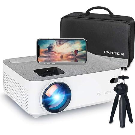 FANGOR プロジェクター 小型 5500ルーメン WiFi接続 スマホ無線 Bluetooth 1080PフルHD対応 スマホ/パソコン/PS4/タブレット/HDMI対応 日本語取扱説明書【三年保証】