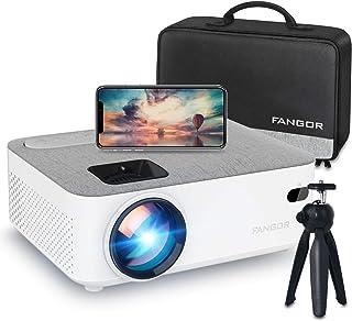 FANGOR プロジェクター 小型 6500ルーメン WiFi接続 スマホ無線 Bluetooth 1080PフルHD対応 スマホ/パソコン/PS4/タブレット/HDMI対応 日本語取扱説明書【三年保証】