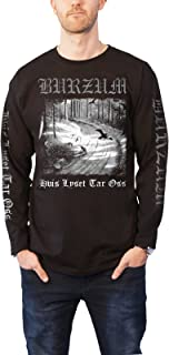 Burzum T Shirt Hvis Lyset Tar Oss Band Logo New Official Mens Black Long Sleeve