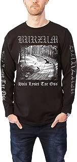 Burzum T Shirt Hvis Lyset Tar OSS Band Logo Official Mens Black Long Sleeve