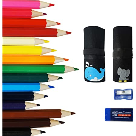 Colored Pencils 48 Sharpener /& Eraser WITH CASE for Adult Coloring Book -Brush Custom Cover for Coloring Book