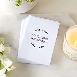 25 'Plant These Seeds and Grow Happy Memories' Unfilled Seed Packet Funeral Favour Envelopes - by Angel & Dove