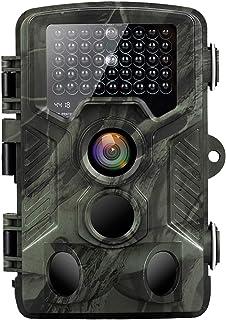 CNSUNTEK トレイルカメラ 監視カメラ追跡カメラ2.4インチLCDモニター 20MP 1080HD ステルス赤外線カメラ人感センサー 家庭用防犯カメラ 屋外 防犯カメラ 電池式 暗視カメラ動体検知カメラ 動物 監視カメラ記録16G SDカードを上書きする12か月保証日本語取扱説明書