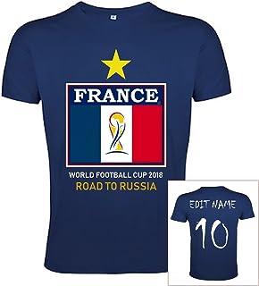 Copa Mundial de Fútbol 2018 Camiseta Francia Poliéster Bandera - Nombre y Número Personalizable