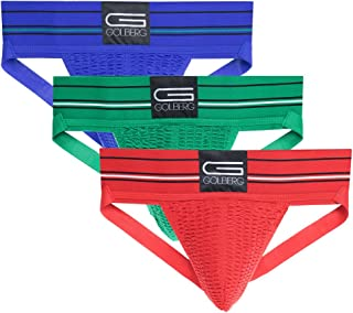 GOLBERG Athletic Supporter - Naturally Contoured Waistband - 3 Packs of Multiple Colors