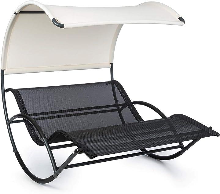 Divano da giardino a dondolo lettino ergonomico resistente alle intemperie tetto impermeabile blumfeldt B08Y5VNW54