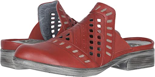 Kiss Red Leather/Stone Nubuck