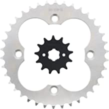 Race Driven OEM Replacement 13 Tooth Front & 38 Tooth Rear Silver Sprocket for Honda