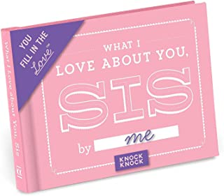 Knock Knock What I Love about You, Sister Fill in the Love Book Fill-in-the-Blank Gift Journal, 4.5 x 3.25-inches