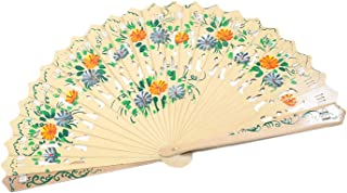 We pay your sales tax Wooden Spanish Floral Print Design Hand Fan Party Decoration Gift
