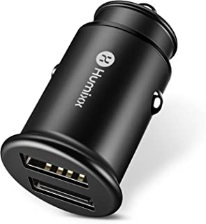 USB Car Charger,Humixx(Phantom Series) Premium Alloy 4.8A/24W Fast Car Charger for iPhone 8,iPhone 8 Plus,iPhone X, iPad, S8, HTC and Other Apple&Android Device-