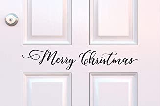 Merry Christmas Door Decal Christmas Vinyl Decal Christmas Door Decor Holiday Porch Seasonal Decal Outdoor Christmas Decor
