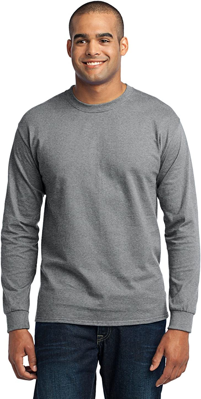 Port & Company Men's Tall Long Sleeve 50/50 Cotton/Poly T Shirt