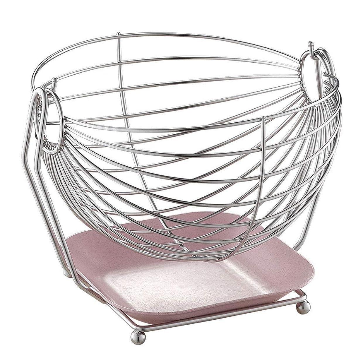 普通に地区寛解スイングフルーツハンモックステンレス鋼フルーツバスケット大容量キッチン収納バスケット現代の装飾20 * 25 * 27 cm