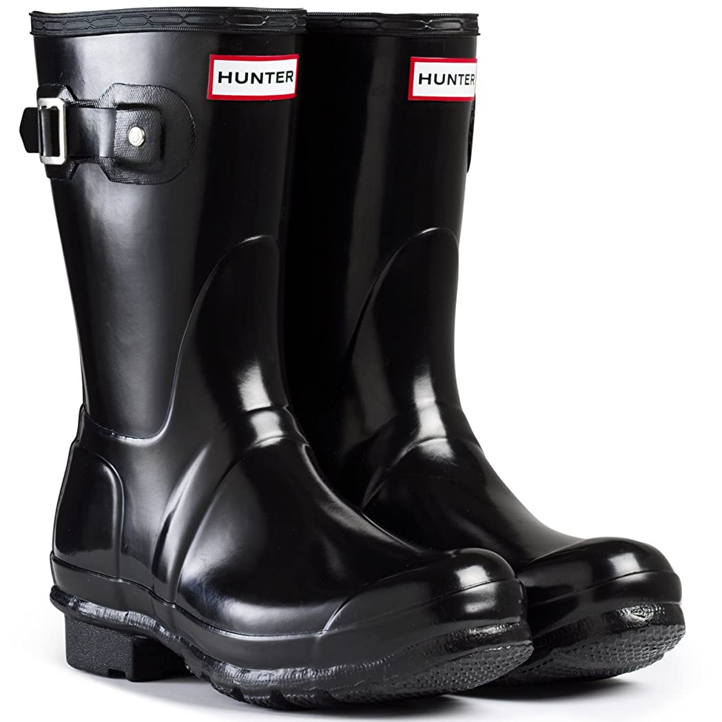 区かなり外出[Hunter] レディース Original Short Gloss Boot US サイズ: 7 M US カラー: ブラック