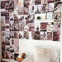 Flamingueo Muurdecoratie voor foto's, 100 foto's, decoratie voor muren in de slaapkamer, tienerkamer, muurstickers, wandde...