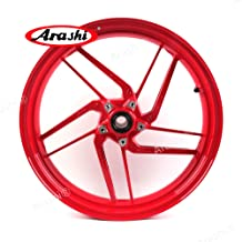 Arashi Front Wheel Rim for DUCATI 899 PANIGALE 2014 2015/959 PANIGALE 2016-2018/959 PANIGALE CORSE 18 Motorcycle Replacement Accessories Red 2017