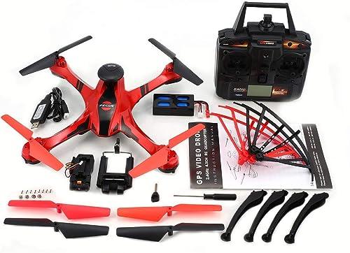 Tu satisfacción es nuestro objetivo Comomingo FX176C1 2.4G 4.5CH cámara de 2MP con GPS GPS GPS Video Flight Trace Brushed Quadcopter (rojo)  barato en alta calidad